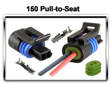 Metri-Pack 150 Pull-to-Seat Series connectors and terminals