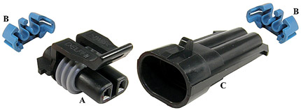 Metri-Pack Sealed 150 Two-Way Connectors (12052641, 12052634, 12162000)